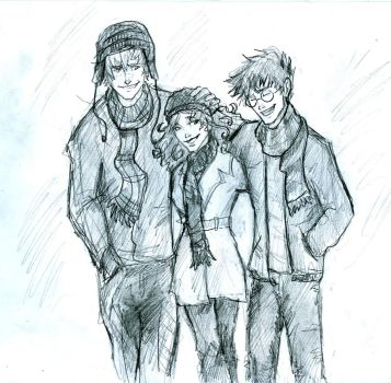 Wintertime trio by HILLYMINNE