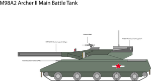 M98A2 Archer II Main Battle Tank Digital by Target21