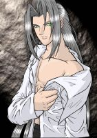 Sephiroth +colored+ by AerithReborn
