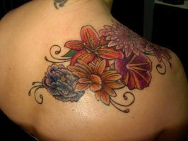 Flower Tattoo in Color by DanielleHope