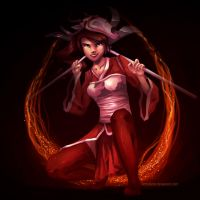 League Of Legends: Akali by scriptKittie