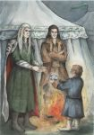 Bilbo, Bard and Thranduil by AnotherStranger-Me