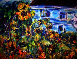 Sunflowers  LProctor by LaurieLefebvre