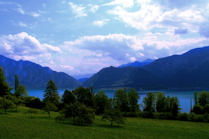 Mondsee Lake by Novemberschatten