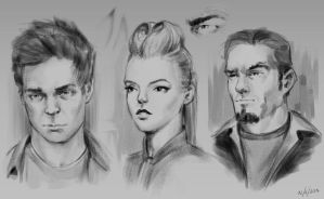 Face sketches by Matija5850