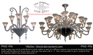White Chandelier Set by YBsilon-Stock
