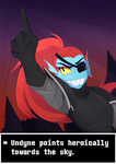 Undyne by Pyuuni