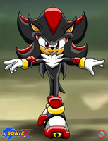 CM: Shadow the hedgehog Sonic X style by shadowhatesomochao