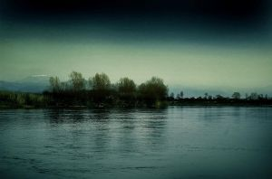 Monday Evening on the River II by Callu