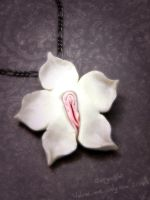 Vulva Pendant, Exotic Orchid by VulvaLoveLovely