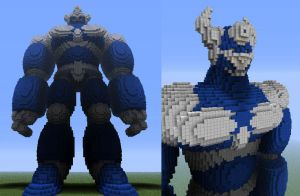 minecraft super robot by 321kye