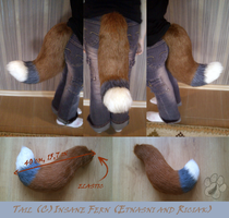 Fox Tail for sale by InsaneFern-Fursuits