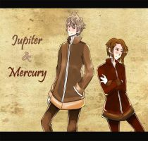 Jupiter and Mercury by Fernvie