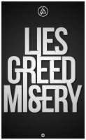 LIES GREED MISERY by AndrewNickson