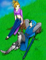 Dimitri and Rayne in field by Mastens