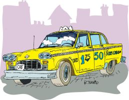 Checker cab New Yorc City by Roberto67