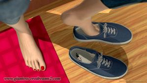 Giantess Erodreams2 - Cathy - man insole by ilayhu2