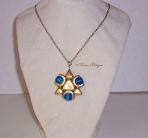 Zora Sapphire Necklace Twilight Prince Zelda OOAK by TorresDesigns