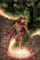 Tiefling Mage Teleporting by GraphicGeek