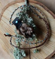 Otter Paw Necklace by lupagreenwolf