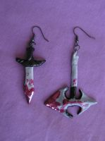 Death and Destruction Earrings by VoltaicCreations