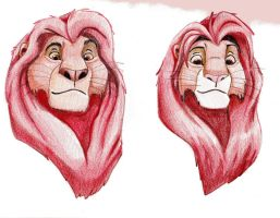 Mufasa Simba Comparison by CowgirlSpirit
