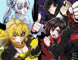 RWBY All-Out Attack by RustyArtist