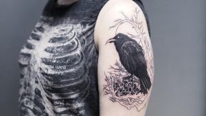 WIP raven tattoo by sHavYpus