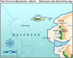 The Atlas of Beleriand - Map 9 by Airyyn