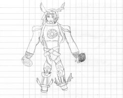 Lucemon Chaos Mode drawing by JackFrost-LCDA