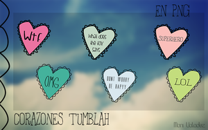 Corazones Tumblah en PNG by MoniPotato