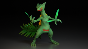 #254. Sceptile by TheAdorableOshawott