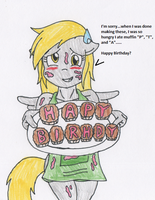 Birthday Message from Derpy by RaijinSenshi