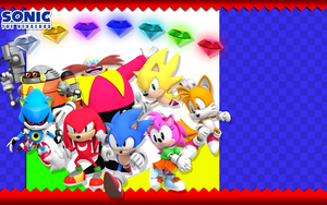Classic Sonic Themed Wallpaper by Nibroc-Rock