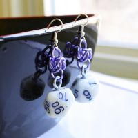 Pretty Purple d10 Earrings by Utopia-Armoury