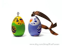 Budgie Ornaments/Figurines For Sale by KazFoxsen