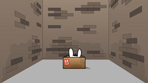 bunny in a box - wallpaper by AreoX