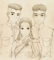 Portrait of Thai characters by cocon