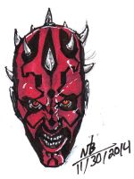 Darth Maul Sketch by ConstantM0tion
