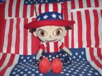 My June Doll as Uncle Sam by Gamekirby