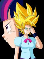 Twilight Sparkle Super Saiyajin DBZ Style by gonzalossj3
