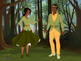 Gender-swapped Princess and the Frog by DarlingDreamer94