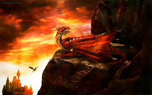 Majestic Red Dragon by JovanXtremeDesign