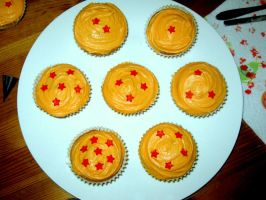 Dragonball cupcakes by PictureProof