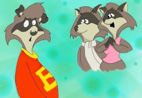 The Raccoons by sugerplumfairygirl