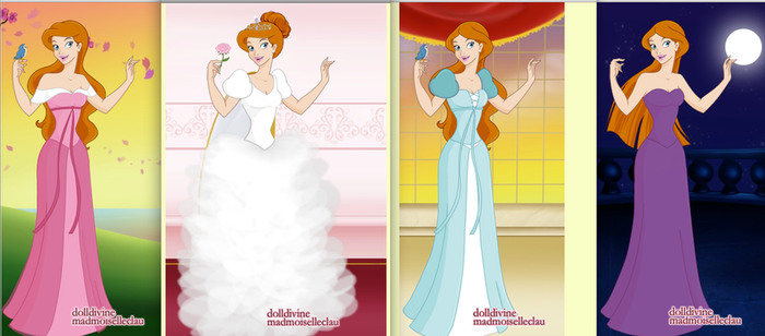 Giselle and her 4 dresses by mgcat989