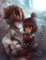 Dad! Where are my fangs? by Nuku-Niku