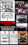 My step by step process for coloring illustrations by Cavalierstylez