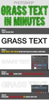 Simple Grass Text in Photoshop by shangerz
