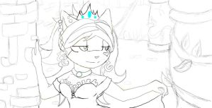 Princess Alexandria Lovelladdy Lineart by modoxxthehedgehog